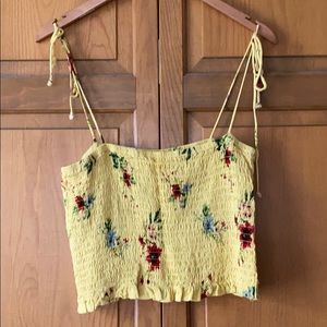 Yellow Floral Crop Top